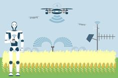 Most people don't associate cutting-edge technology with agriculture, but that is changing with the help of new developments in artificial. Precision Agriculture, Future Farms, Artificial Intelligence, Media Design, The Help, Innovation, Infographic, Social Media, Technology