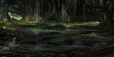 Black Swamp, Dharu Ghazi on ArtStation at https://www.artstation.com/artwork/93NKO