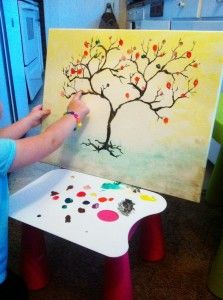 Easy hand made paint