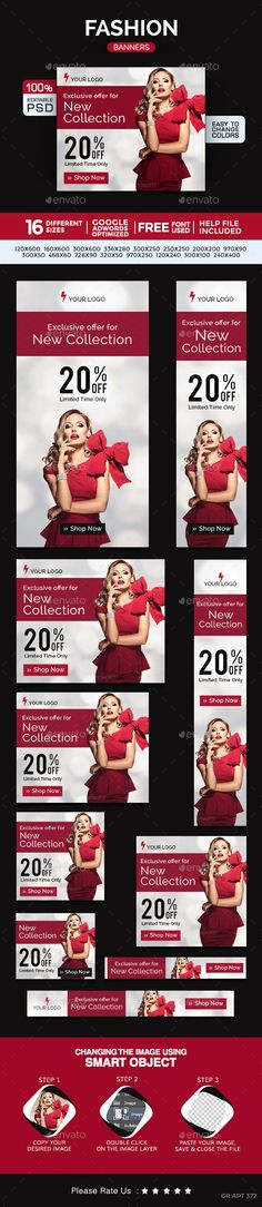 Fashion Banners | Download: http://graphicriver.net/item/fashion-banners/10469605?ref=ksioks