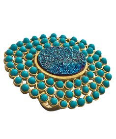 Andara Turquoise and Druzy Statement Ring