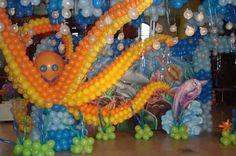 Resultado de imagem para festa de aniversario fundo do mar
