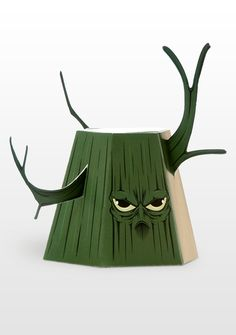 freakyforest - paper toys by marko markowicz, via Behance