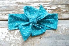Headwrap  Baby Headwrap  Arrows Turquoise by TrueNorthClothingC