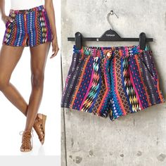 Angie tribal shorts In great condition. There are few loose yarn but not noticeable when worn. See images for details Nasty Gal Shorts