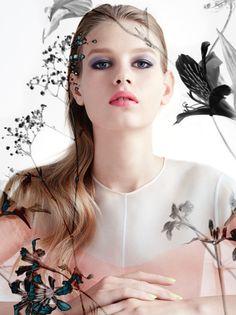 fleur de peau: sofia mechetner by camilla akrans for dior spring / summer 2016 Beauty Logo, Beauty Art, Diy Beauty, Beauty Women, Beauty Makeup, Fashion Beauty, Dior Makeup, Beauty Tips For Skin, Beauty Skin