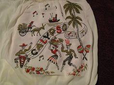 "Vintage 50's 60's ""Calypso"" novelty print panties"