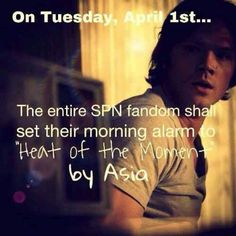 Lol that's my birthday! What a great day for a SPN challenge!