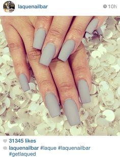 Nice matte taupe manicure
