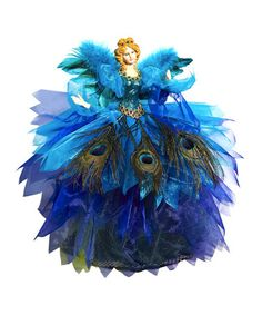 Take a look at this Regal Peacock Angel Figurine by Evergreen on #zulily today!