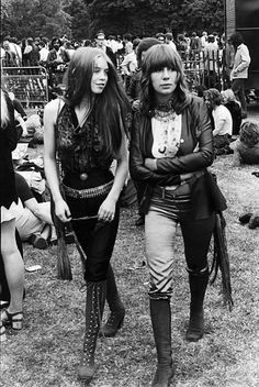 Girls at the Hyde Park Music Festival, July 1969.