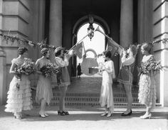 1932 Rose Queen Holly Halstead and her court in front of Pasadena City Hall. Courtesy of the LA Public Library Online Photo Collections Pasadena City Hall, Rose Queen, California History, Royal Court, Queens, Public, Roses, Hollywood, Collections
