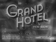 Grand Hotel (1932) Blu-ray movie title