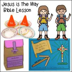 Jesus is the Way Bible Lesson and Crafts Bible Study For Kids, Bible Lessons For Kids, Kids Bible, Jesus Crafts, Bible Crafts, Sunday School Lessons, Sunday School Crafts, Christian Crafts, Hands On Activities