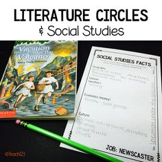 Differentiating with Literature Circles - integrating with social studies is a great way to save time when you have a hectic schedule.  link to paid
