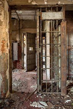Containment area in Hart Island Hospital, NY