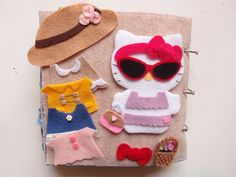 Hello Kitty dress-up quiet book page
