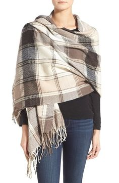 Nordstrom Plaid Blanket Wrap available at #Nordstrom