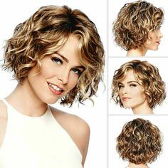 2 Color Optional Wave Curly Wigs Brown/Dark Blonde Fluffy Hair With Side Bangs Fashion Hairstyle Synthetic High Temperature Fiber Casual Wigs Costume Party Wigs Daily Accessories For Women Mommy Wigs Natural Full Wig Lady Girls Short Wig Short Curly Haircuts, Curly Bob Hairstyles, Short Hairstyles For Women, Hairstyles With Bangs, Hairstyle Short, Long Pixie Bob, Short Layered Curly Hair, Short Wavy Bob, Short Hair Cuts For Women