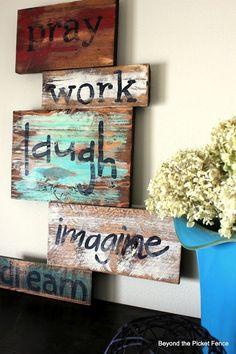 pray work laugh imagine dream - home words