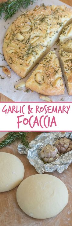 Plenty of roasted garlic, fresh rosemary, and Parmesan cheese make this garlic and rosemary focaccia super flavorful. It's perfect with a bowl of soup, alongside a hearty salad, or served with dinner instead of traditional rolls.