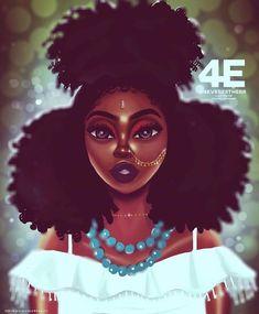 Festival Vibes Art Print by foreverestherr Black Love Art, Black Girl Art, My Black Is Beautiful, Black Girl Magic, Black Girls, Art Girl, Black Women, Black Artwork, Cool Artwork