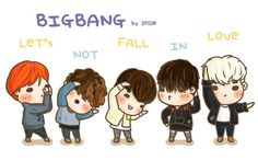 [fanart] #BIGBANG LET'S NOT FALL IN LOVE ❤️