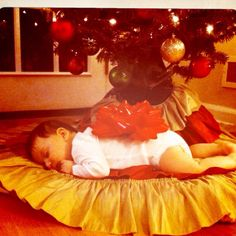 One of my crazy holiday photo ideas :) poor kid!