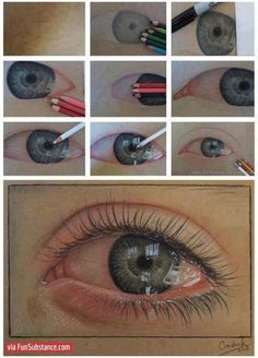 An ultra-realistic eye drawn using just pencils