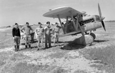 """bmashy: """"Australians against the captured Italian old Fiat CR.32 in Benghazi """"- pin by Paolo Marzioli"""