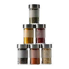 IKEA - DROPPAR, Spice jar, The transparent jar makes it easy to find what you are looking for, regardless of where it is placed.