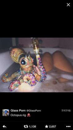 octopus bowl bong smoke smoking marijuana weed pipe cute want
