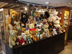 A Steiff display at Teddy Bears of Witney shop in June 2017