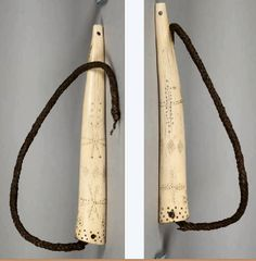 Engraved elk antler quirt, Northern Plains, NMNH  ac Native American Horses, Native American Artifacts, Horse Gear, Horse Tack, Indian Horses, Elk Antlers, Aboriginal Art, Native Art, Nativity
