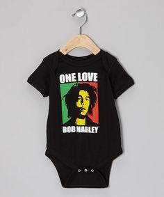 Love this Black 'One Love' Portrait Bodysuit - Infant on #zulily! #zulilyfinds