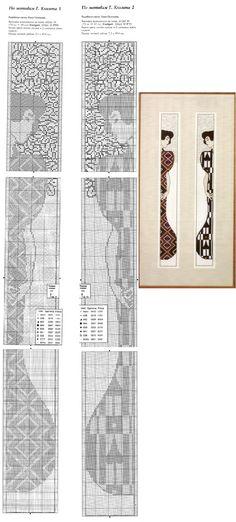 0 point de croix 2 femmes art nouveau - cross stitch 2 art nouveau ladies