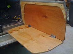 behind spare tire fold down camping table