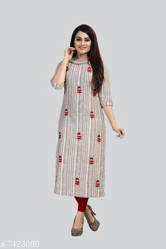 Kurtis & Kurtas Women's Striped Cotton Kurti Fabric: Cotton Sleeve Length: Three-Quarter Sleeves Pattern: Striped Combo of: Single Sizes: XL (Bust Size: 42 in Size Length: 46 in)  4XL (Bust Size: 48 in Size Length: 46 in)  5XL (Bust Size: 50 in Size Length: 46 in)  L (Bust Size: 40 in Size Length: 46 in)  M (Bust Size: 38 in Size Length: 46 in)  XXL (Bust Size: 44 in Size Length: 46 in)  XXXL (Bust Size: 46 in Size Length: 46 in) Country of Origin: India Sizes Available: M, L, XL, XXL, XXXL, 4XL, 5XL   Catalog Rating: ★4.1 (441)  Catalog Name: Jivika Voguish Kurtis CatalogID_1192590 C74-SC1001 Code: 465-7423090-9911