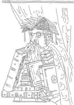 Kirikou coloring 5 pinterest for Seurat coloring pages