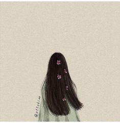 ảnh sưu tầm Art Anime, Anime Art Girl, Girl Wallpaper, Cartoon Wallpaper, Aesthetic Art, Aesthetic Pictures, Cover Wattpad, Tmblr Girl, Flower Sketches