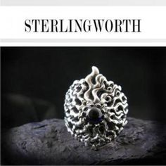 Bejeweled Silver Ring Diamond Earrings For Women, Women's Earrings, Silver Rings, Floral, Jewelry, Jewlery, Jewerly, Flowers, Schmuck