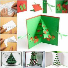 pasos para hacer una tarjeta de navidad 3D