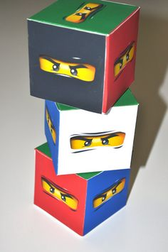 NEW Ninjago party favor youfoldem boxes by Arduosity on Etsy, $12.95