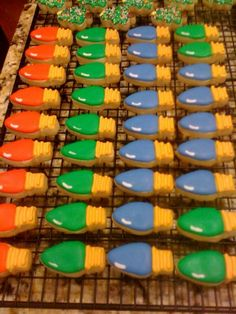 Christmas bulb cookies