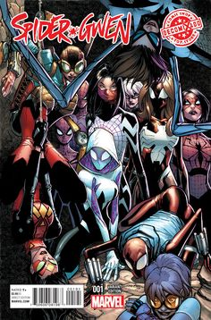 Okay I get Silk, Spider Woman and Spider-Gwen being prominent. Maybe even Arana. But why is Felicity Hardy (female Scarlet Spider), Ultimate Jessica Drew, Steampunk Lady Spider, MAttie Franklin and...