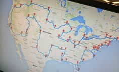 An MSU computer science student has created a map that takes travelers through 48 states, hitting 50 landmarks along the way.