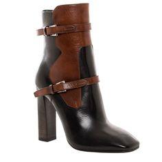 Prada Women's Two-tone Leather Ankle Boots by Prada