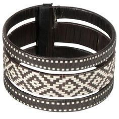 Three Piece Black & White Bracelet from Colombia