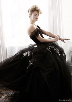 Here are five gorgeous black ball gown wedding dresses that will inspire any bride who admires this dress style and is looking for her dream black ball gown wedding dress. Above is a black ball gow… Organza Bridal, Bridal Gowns, Wedding Dress Black, Gown Wedding, Wedding Bride, Wedding Blog, Wedding Favors, Wedding Cakes, Wedding Ideas