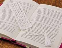 """V-Stitch Bookmark from my online class, """"Learn to Crochet with Thread"""" on the Annie's website Crochet Bookmarks, Crochet Books, Thread Crochet, Crochet Doilies, Crochet Stitches, Knit Crochet, Crochet Patterns, Crochet Classes, Learn To Crochet"""